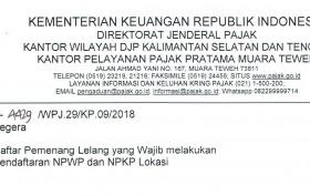 Kewajiban NPWP Lokasi edit